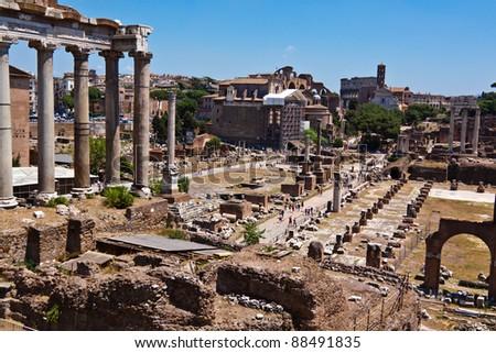 Rome, Forum Romanum - stock photo