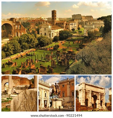 Rome. Forum Romanum. Collage