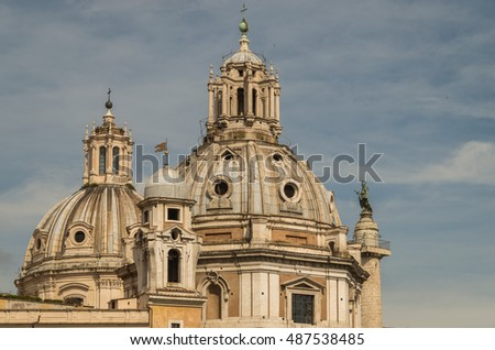 Rome is a city full of many beautiful and historical buildings and architectural detail #487538485