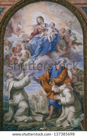 ROME, ITALY-APRIL 18 : image of The church of Santa Maria degli Angeli e dei Martiri on April 18, 2012. The church is dedicated to the Christian martyrs and was built in the XVI century.