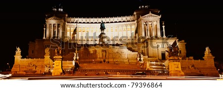 Rome, Italy - July 2010: The Piazza Venezia is a piazza in central Rome, Italy. It takes its name from the adjacent Palazzo Venezia, the former embassy in the city of the Republic of Venice.