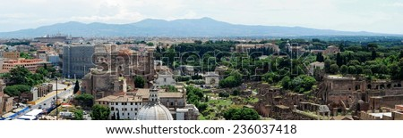 ROME, ITALY - MAY 29: Rome city life. View of Tiber river in Rome city on May 29, 2014, Rome, Italy.