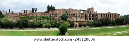 ROME, ITALY - MAY 31: View of ruins in Rome city on May 31, 2014, Rome, Italy.