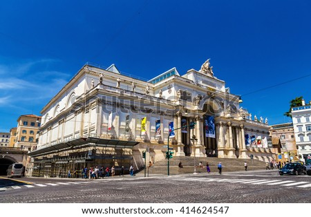 Royalty free stock photos and images rome italy may 10 for Palazzo delle esposizioni rome italy