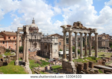 Shutterstock Rome, Italy. One of the most famous landmarks in the world - Roman Forum.