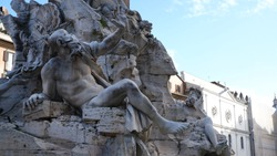 Rome, Italy. Piazza Navona and Fountain of Neptune.