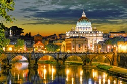 Rome, Italy, St. Peter's cathedral.