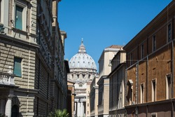 Rome, Italy, Streetview St. Peter's Basilica