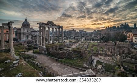 rome  italy  the roman forum ...