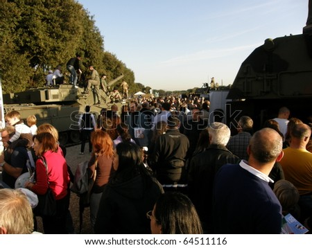 ROME - NOV. 6:  today many people visit Circus Maximus on Armed Forces Day, Nov. 6, 2010 in Rome, Italy. Armed Forces Day is celebrated from Nov. 4-7, 2010.
