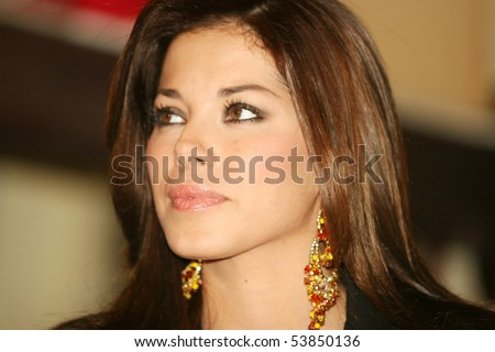 ROME - NOVEMBER 11: an image of the showgirl Aida Yespica at the press conference for the presentation of his show at Bagaglino November 11, 2005 in Rome Italy - stock photo