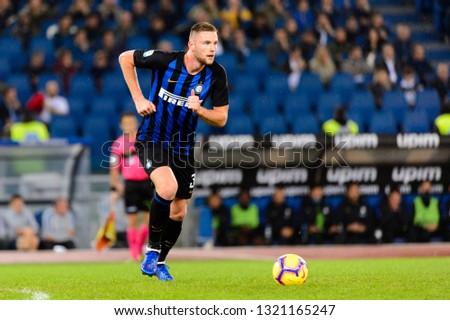 ROME - OCT 29, 2018: Milan Skriniar 37. SS Lazio - FC Internazionale Milano. Serie A TIM. Stadio Olimpico.