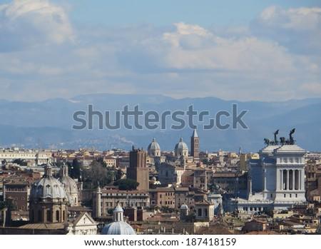 Rome overview, the Altare della Patria