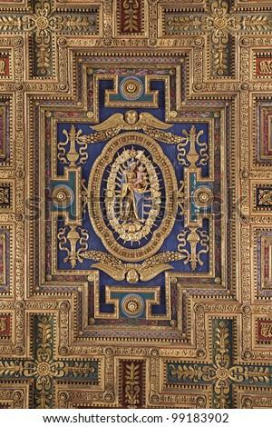 Rome - roof of church Santa Maria Aracoeli - stock photo