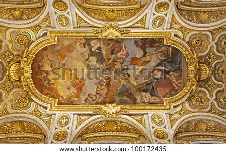 Rome - roof of San Luigi church
