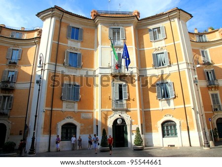 ROME - SEPTEMBER 18: A Carabinieri precinct building on September 18, 2011 in Rome. The Arma Carabinieri is one of the four armed forces of Italy.