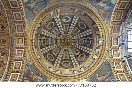 Rome - side cupola of st. Peter s basilica