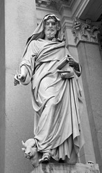 Rome - st. John the Evangelist statue by st. Pauls s basilica