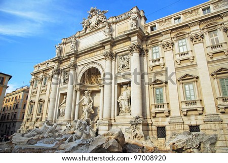 Rome, theTrevi Fountain, one of the most famous in the world