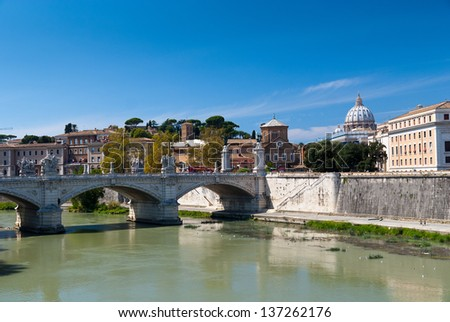Rome, Tiber and St. Peter's Basilica