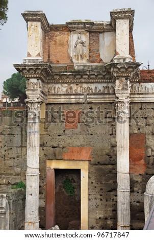 Rome Trajan Forum - stock photo