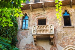 Romeo and Juliet  balcony  in Verona, Italy