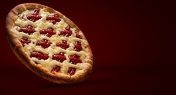 Romeo and juliet pizza. Traditional brazilian sweet pizza with sweet guava and cheese.