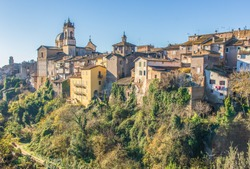 Ronciglione, Italy - one of the pearls of Viterbo province, Ronciglione is one of the most enchanting villages of central Italy. Here in particular a glimpse of the old town