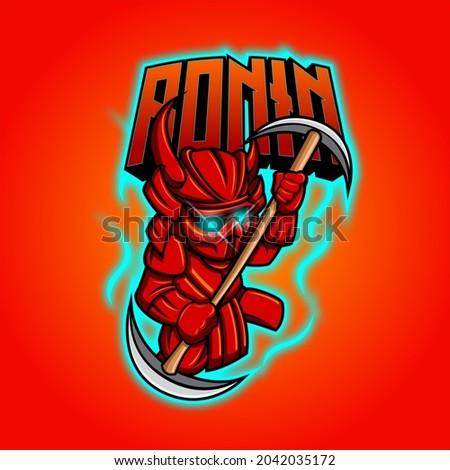 Ronin Mascot and Esports Logo