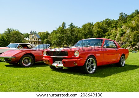 RONNEBY, SWEDEN - JULY 17, 2014: Press show for upcoming event \