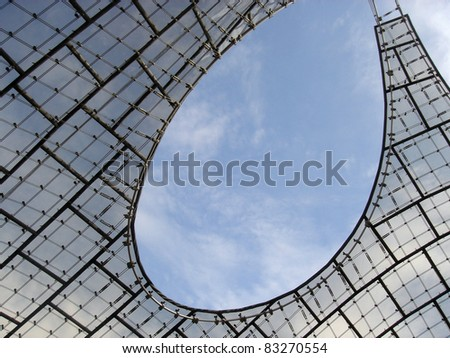 Roof Canopy of Olympic Stadium in Munich, Germany