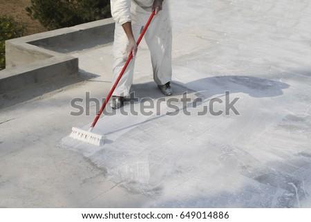 Shutterstock Roof Coating Broom