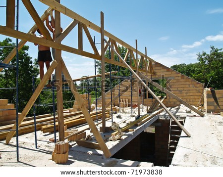 Roof construction - truss install