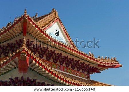 roof details of chinese temple in hongkong ez canvas