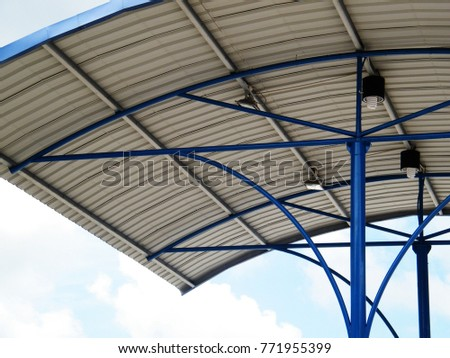 Roof Dome construction, Aluminum metal sheet shelter #771955399