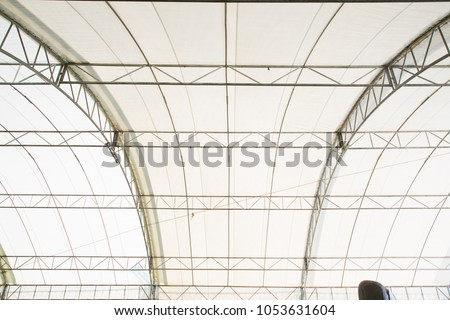 Roof Dome construction, canvas and metal sheet for event #1053631604