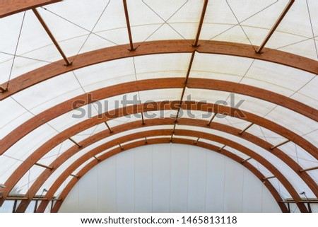 Roof Dome construction, canvas and metal sheet for event #1465813118