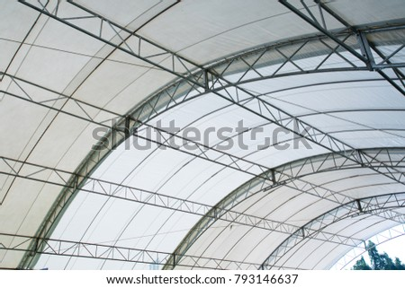 Roof Dome construction, canvas and metal sheet for event #793146637