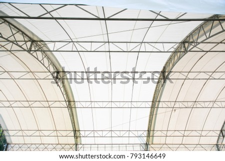 Roof Dome construction, canvas and metal sheet for event #793146649