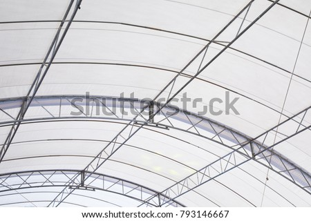 Roof Dome construction, canvas and metal sheet for event #793146667