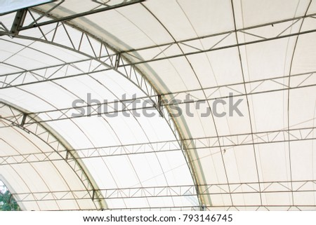 Roof Dome construction, canvas and metal sheet for event #793146745