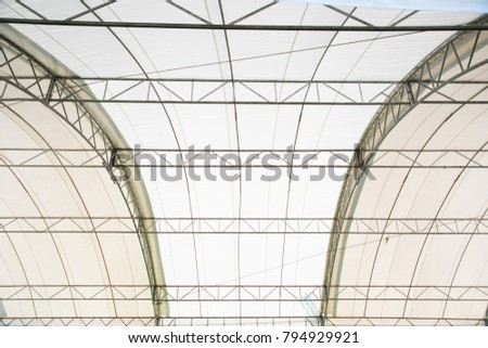 Roof Dome construction, canvas and metal sheet for event #794929921
