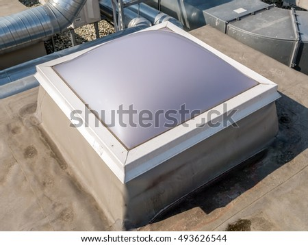Roof manhole with plastic cover #493626544