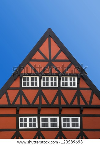 Roof of a house in bavarian style - stock photo