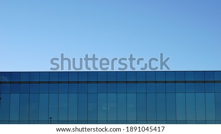 roof of building with glass facade Photo stock ©