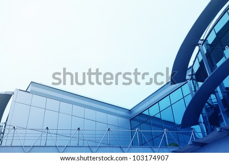 roof of modern office building with copyspace for text