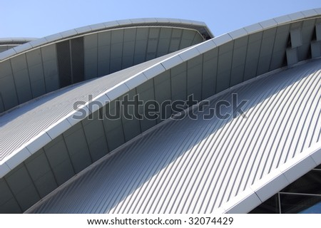 "Roof of ""The Armadillo"" concert hall in Glasgow, Scotland #32074429"