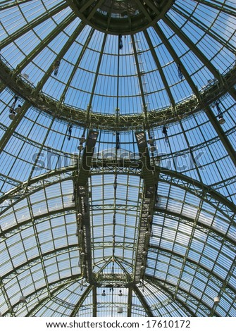 Roof of the Grand Palais, Paris exhibition hall