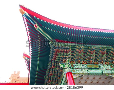 Roof oh chinese temple - stock photo