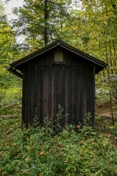 Roof Profile of Small Woodend Building In The Forest in Cuyahoga Valley National Park